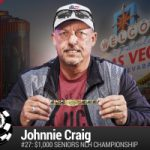 Johnnie Craig vince il 2016 WSOP $1.000 Seniors No-Limit Hold'em Championship
