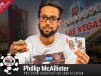 Phillip McAllister vince il 2016 WSOP $3.000 Shootout No-Limit Hold'em