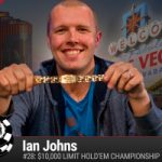 Ian Johns vince il 2016 WSOP $10.000 Limit Hold'em Championship
