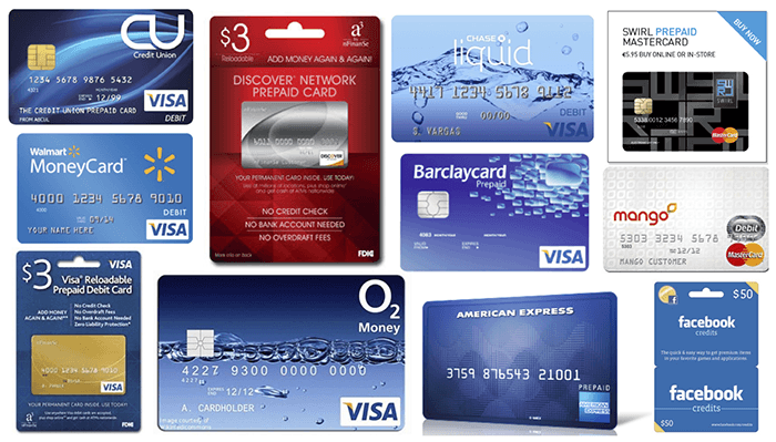 Collage of prepaid cards